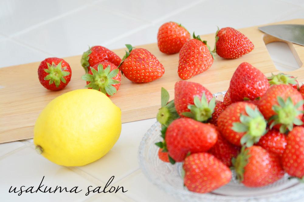 イチゴとレモン