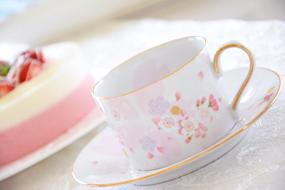 ポーセラーツ オーダーメイド☆桜のカップ&ソーサー