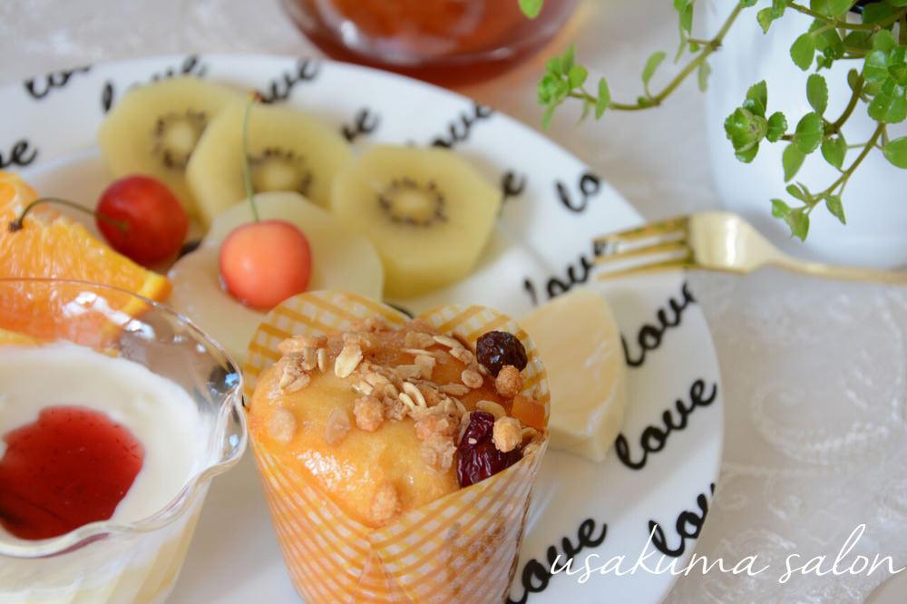 ポーセラーツの食器で朝食IMG_4589