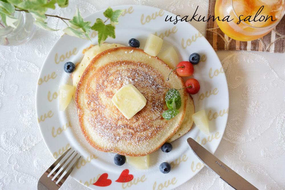 ポーセラーツの食器で朝食IMG_4634