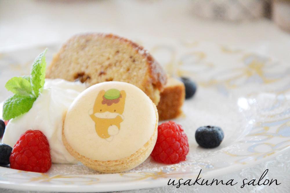 ポーセラーツの食器でケーキIMG_4676