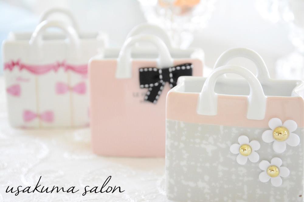 ポーセラーツ・たくさんのバッグ型小物入れ♡IMG_4919