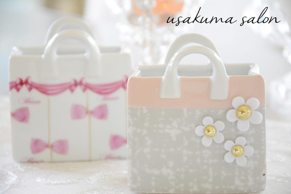 ポーセラーツ・たくさんのバッグ型小物入れ♡IMG_4921