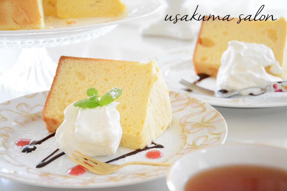 シフォンケーキでティータイム♡IMG_5431